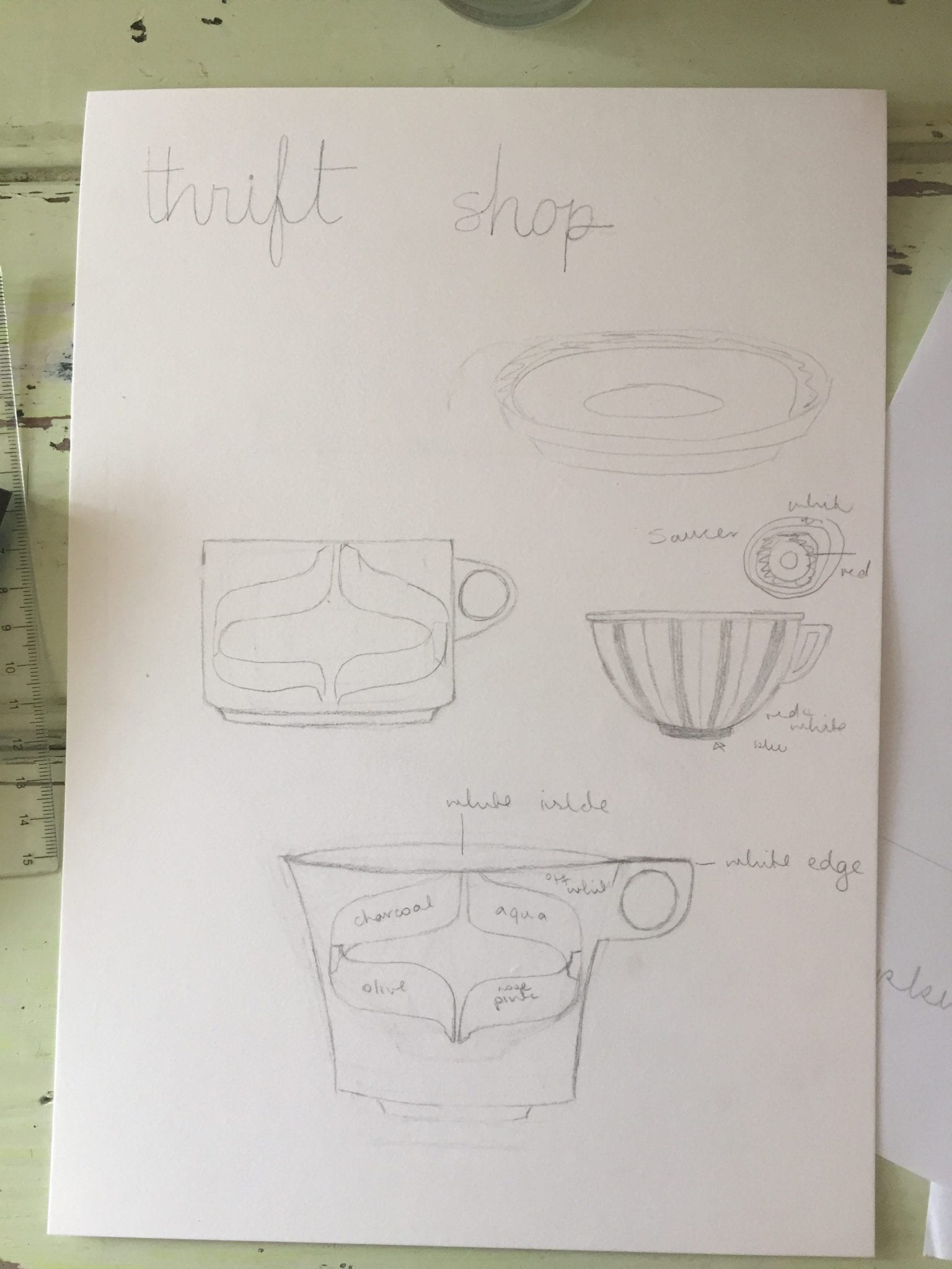 cup sketches