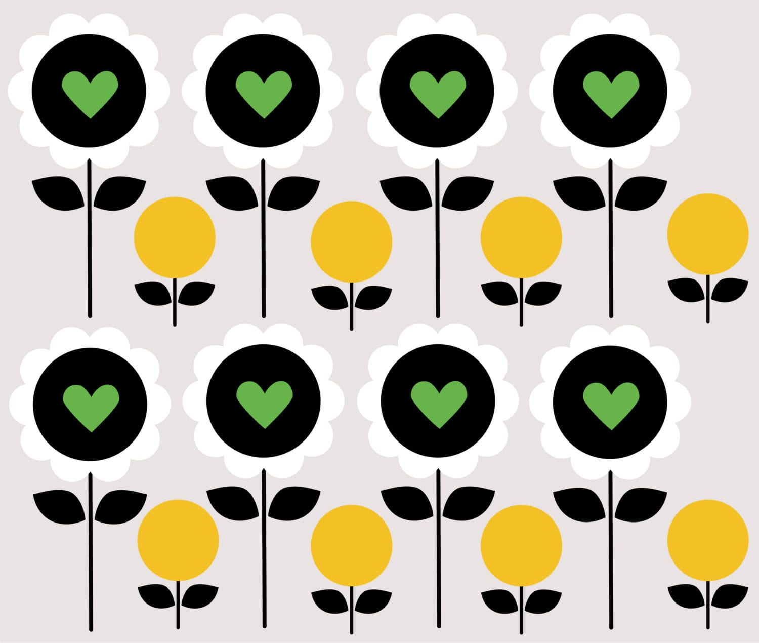 Mishka-Black-Daisy-Yellow-Hearts-Repeat-pattern-High-Res